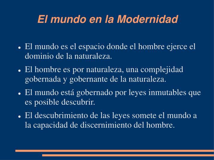 El mundo en la Modernidad