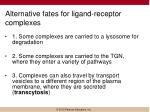alternative fates for ligand receptor complexes