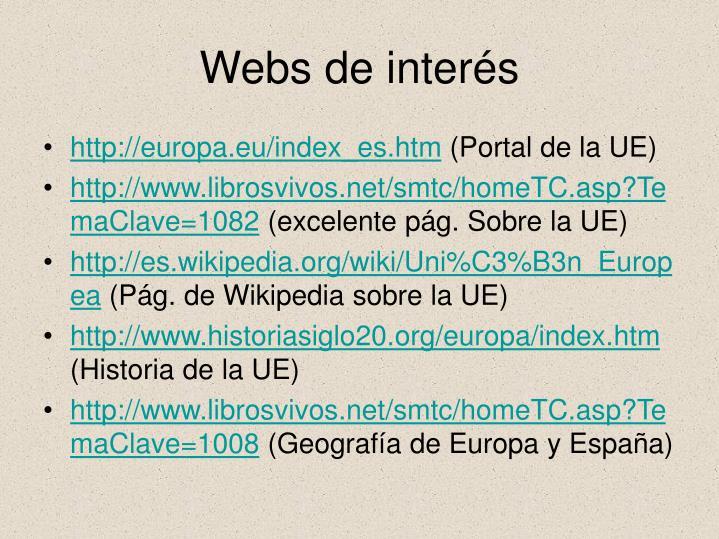 Webs de interés