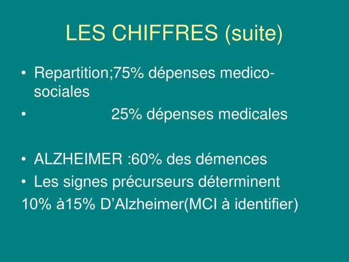 LES CHIFFRES (suite)