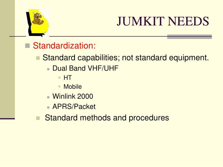 JUMKIT NEEDS