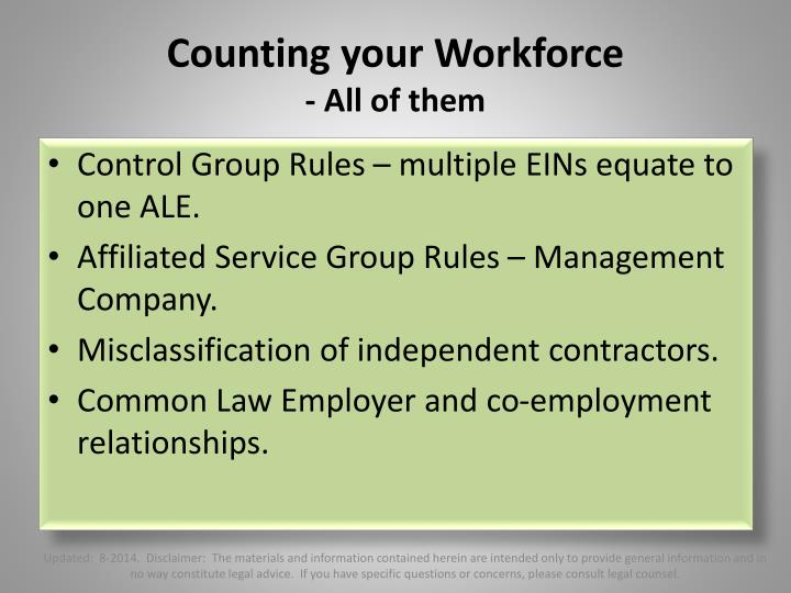 Counting your Workforce