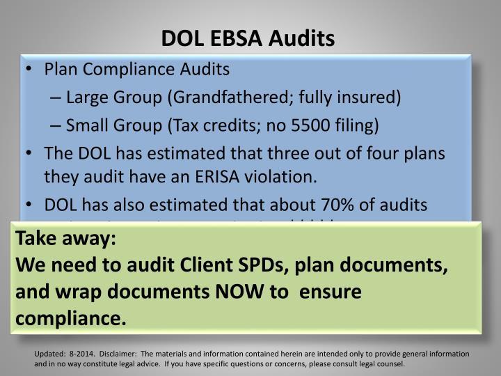 DOL EBSA Audits