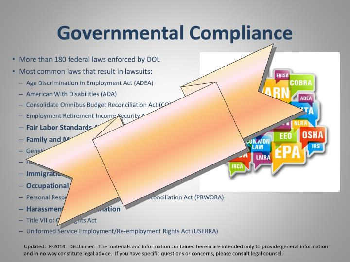 Governmental Compliance