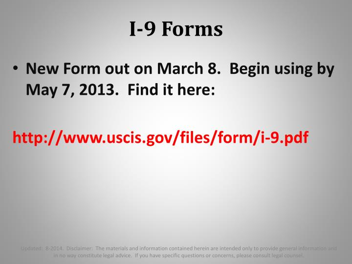 I-9 Forms