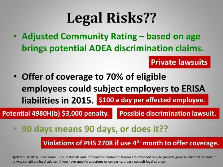 Legal Risks??