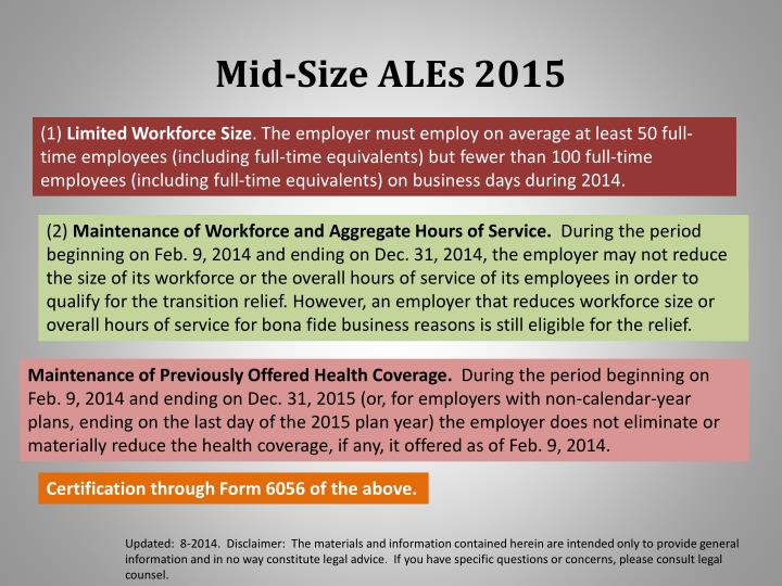 Mid-Size ALEs 2015