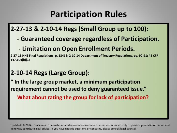 Participation Rules