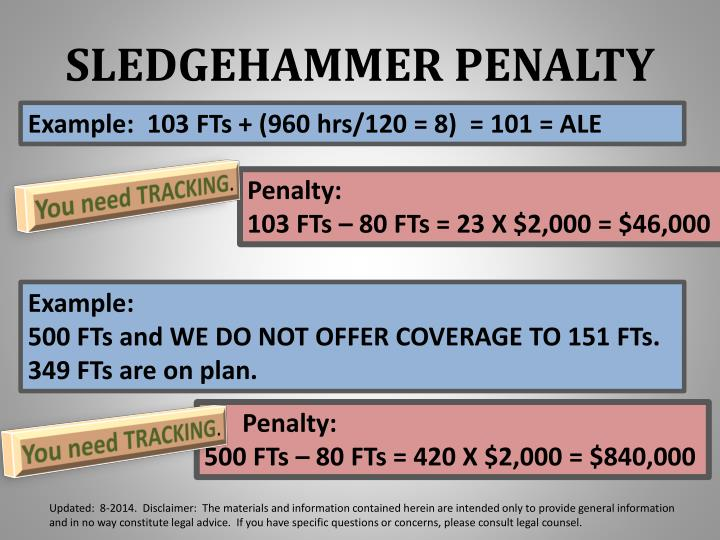 SLEDGEHAMMER PENALTY