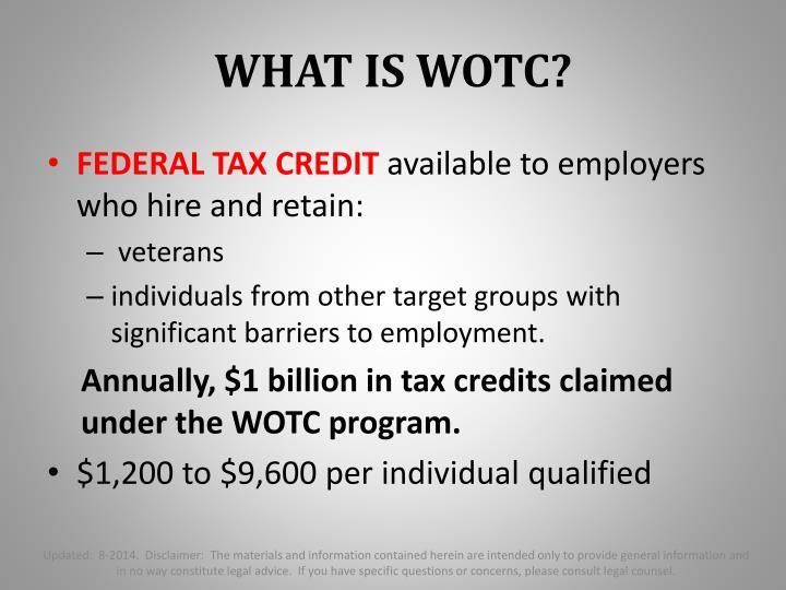 WHAT IS WOTC?