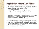 application patent law policy