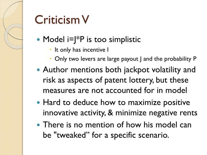 Criticism V