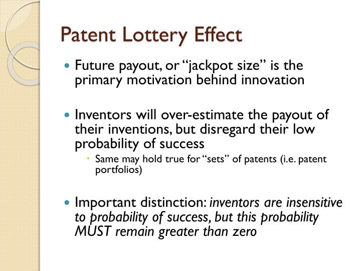 Patent Lottery Effect