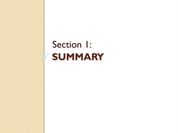 Section 1: