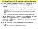 esnet s place in u s and international science