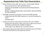 requirements from traffic flow characteristics