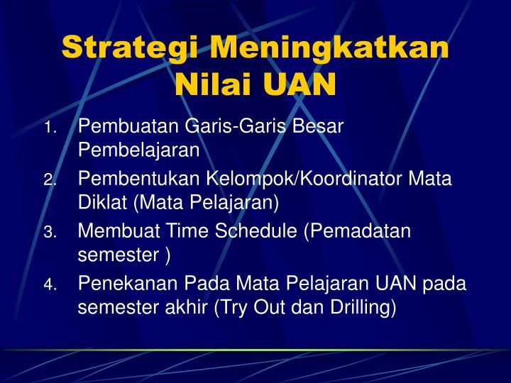 Strategi Meningkatkan Nilai UAN