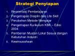 strategi penyiapan