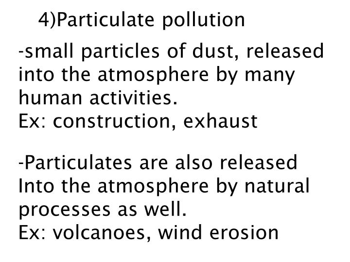 4)Particulate pollution