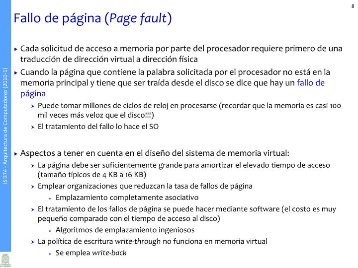 Fallo de página (