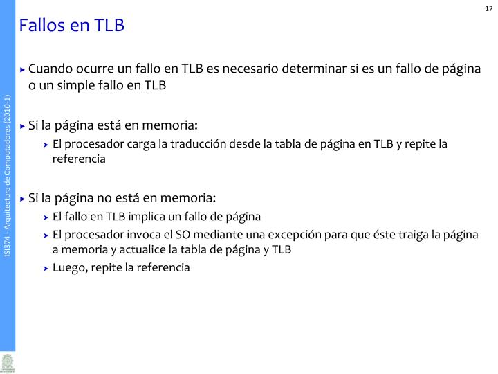 Fallos en TLB