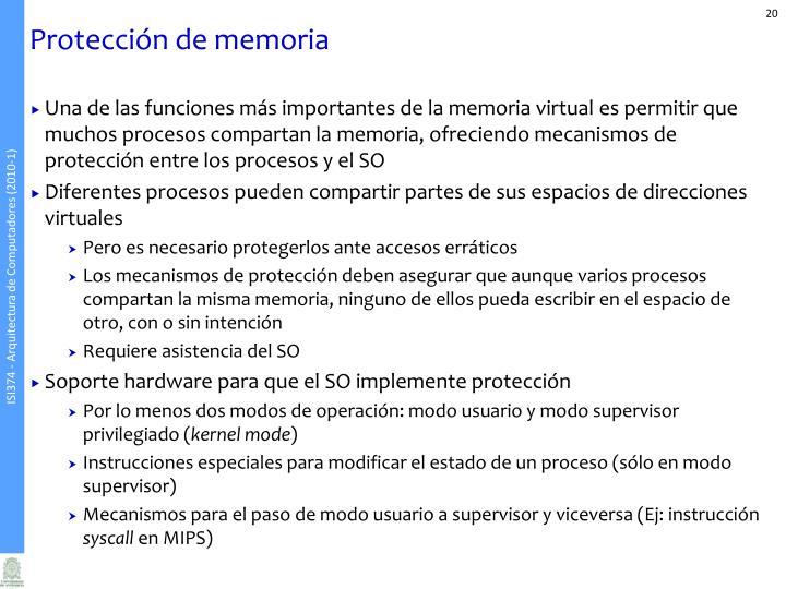 Protección de memoria