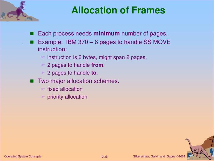 Allocation of Frames