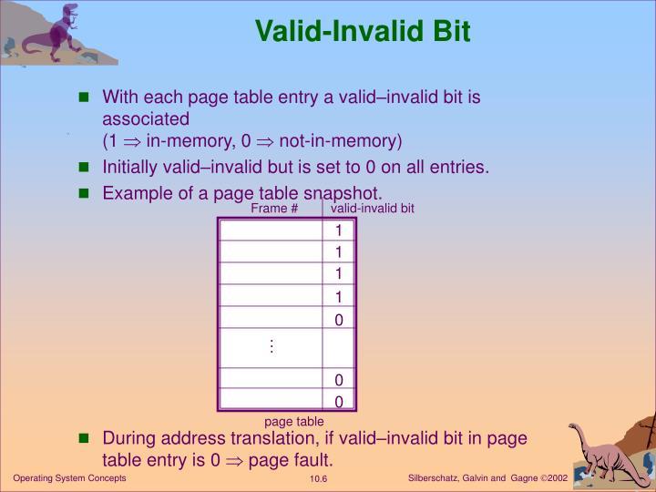 Valid-Invalid Bit