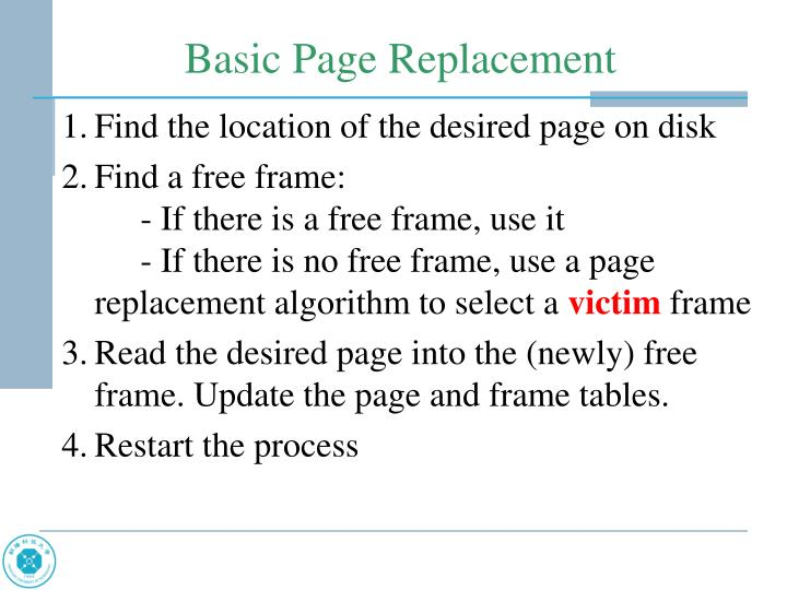 Find the location of the desired page on disk