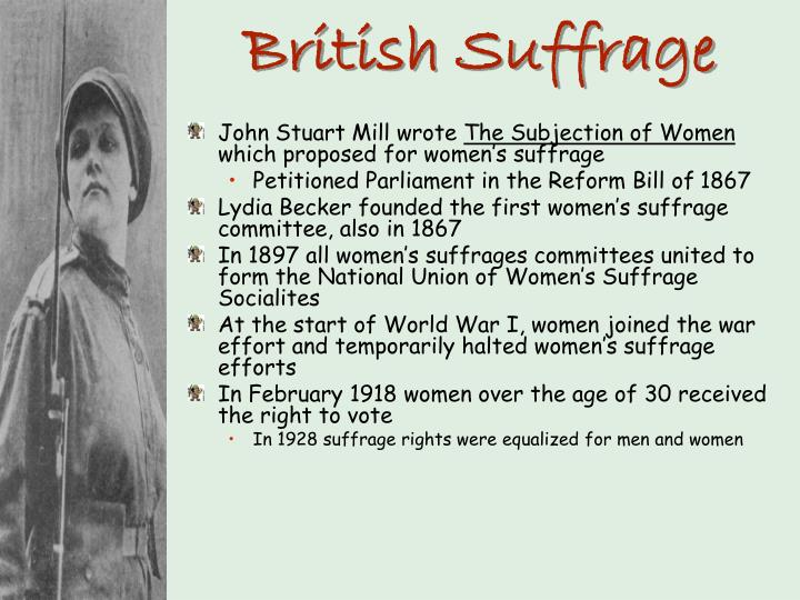 British Suffrage