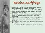 british suffrage