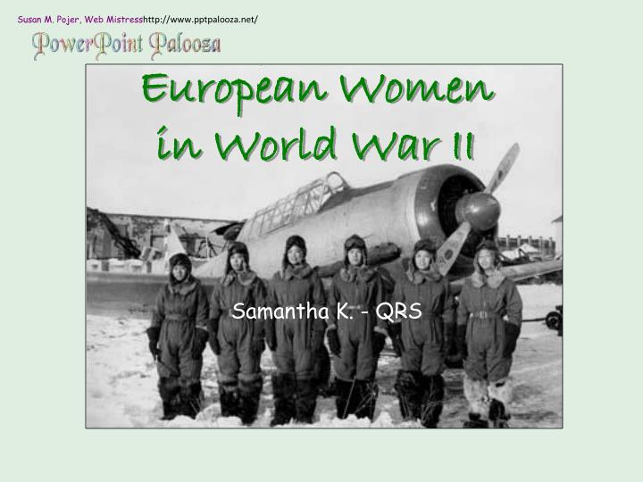 European women in world war ii