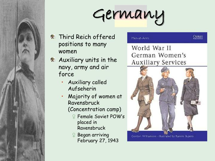 Third Reich offered positions to many women