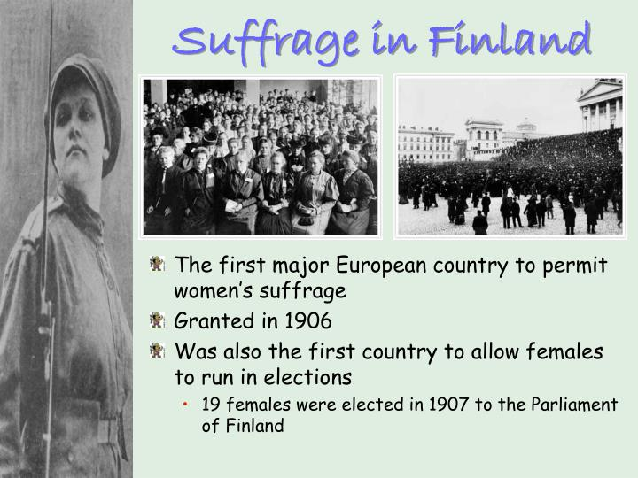 Suffrage in Finland