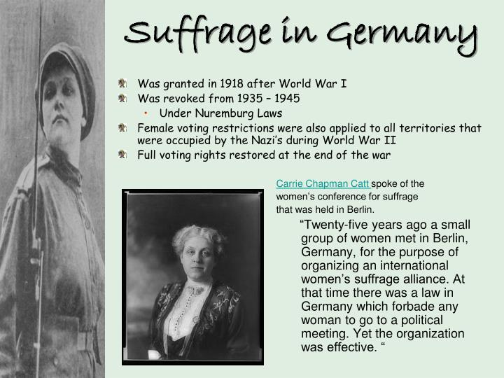 Suffrage in Germany