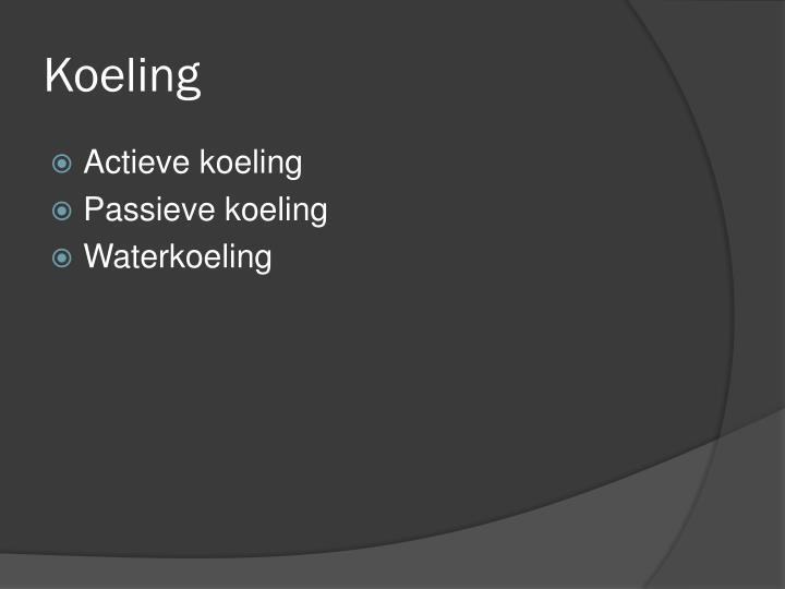 Koeling