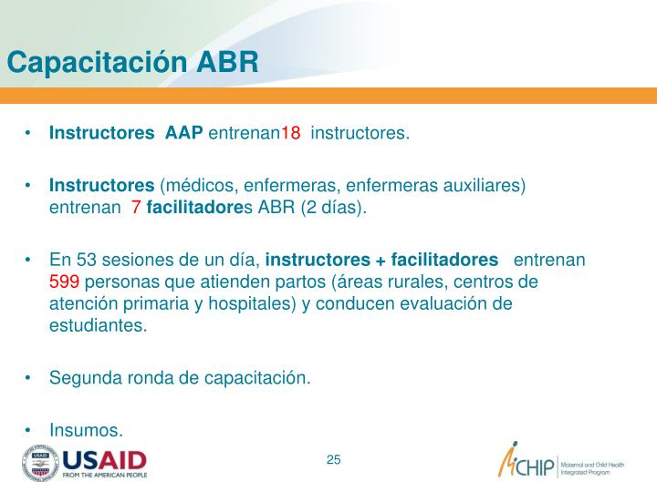 Capacitación ABR
