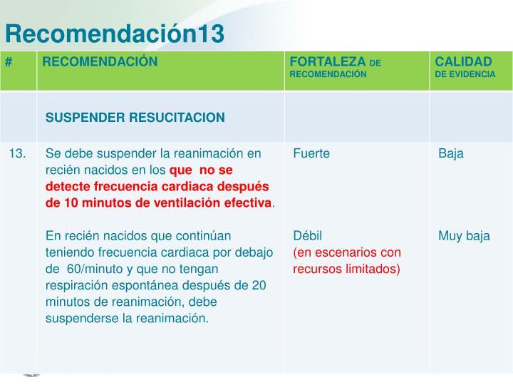Recomendación13