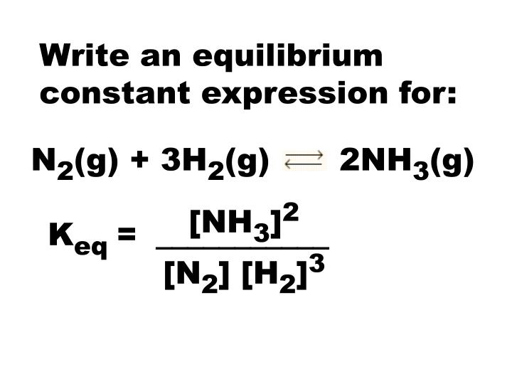 Write an equilibrium constant expression for: