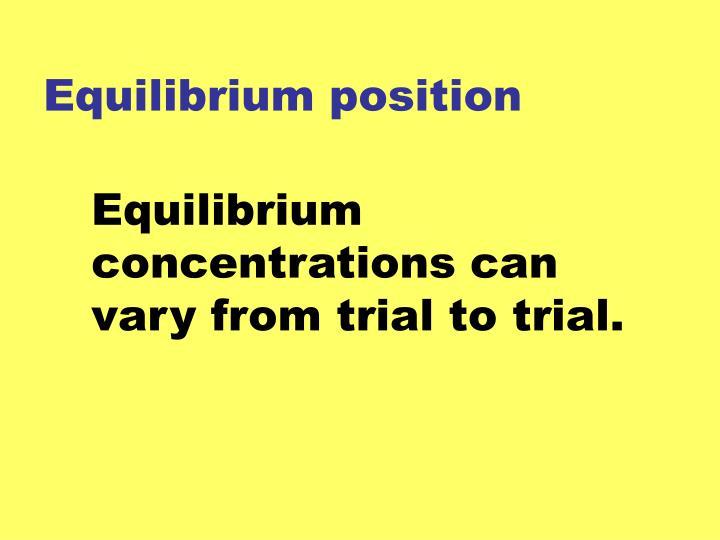 Equilibrium position