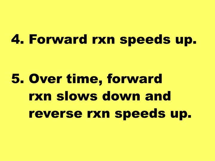 4. Forward rxn speeds up.