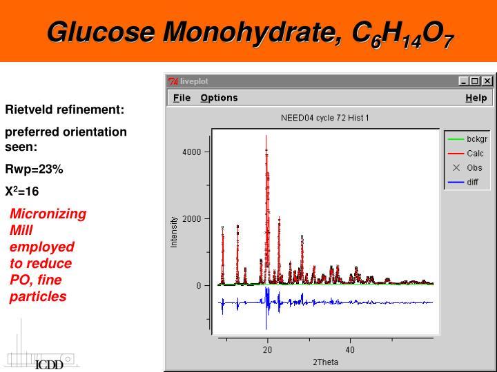 Glucose Monohydrate, C