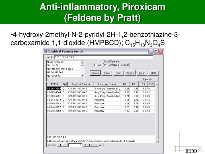 Anti-inflammatory, Piroxicam