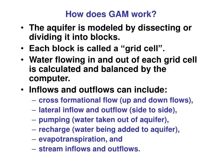 How does GAM work?