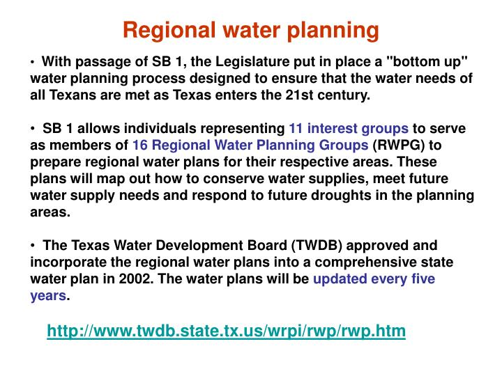 Regional water planning