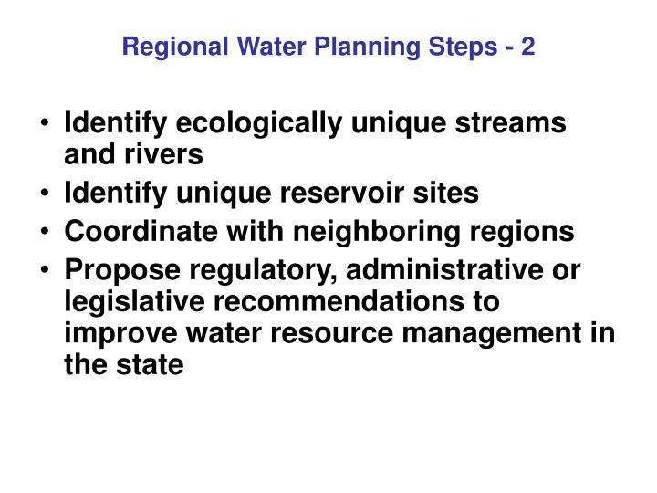 Regional Water Planning Steps - 2