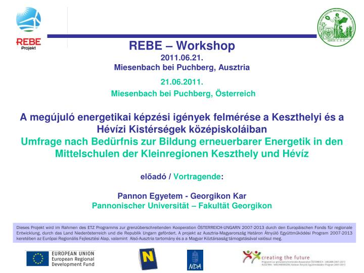REBE – Workshop