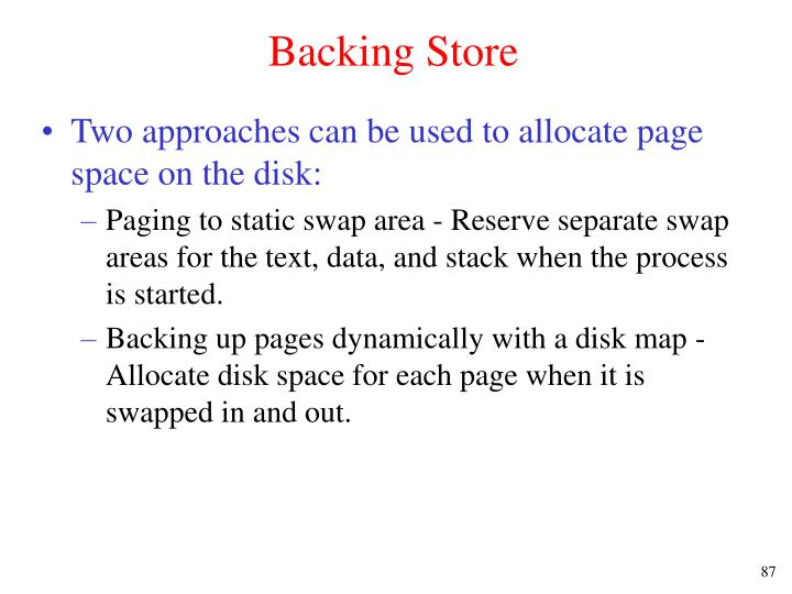 Backing Store