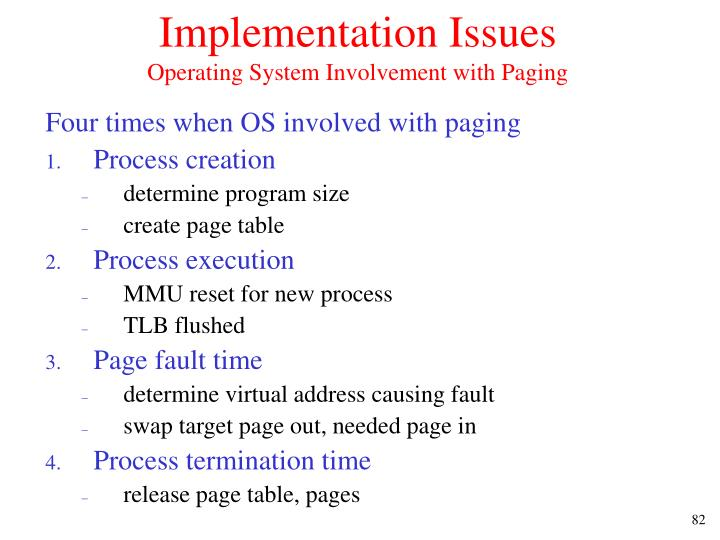 Implementation Issues