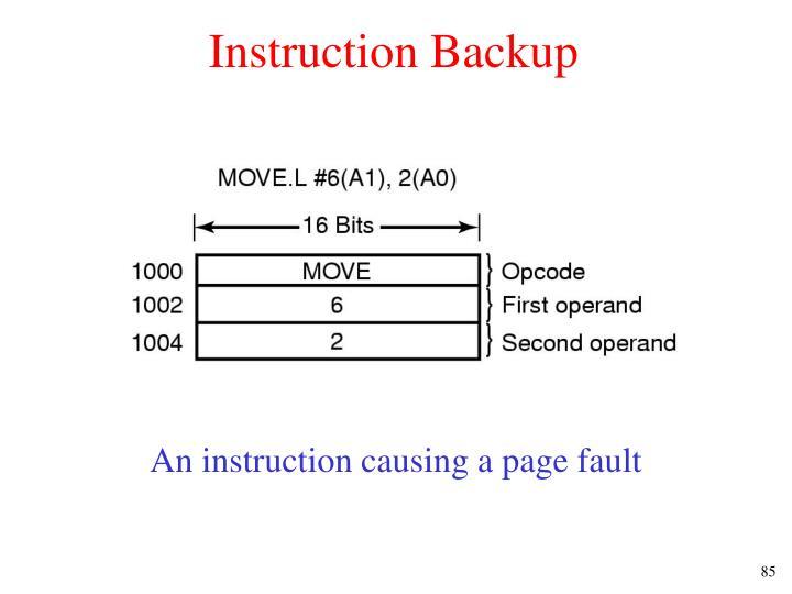 Instruction Backup